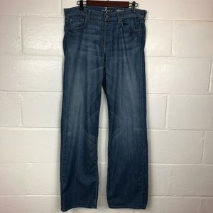 7 For All Mankind Relaxed Jeans Button Fly 33